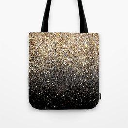 Black & Gold Sparkle Tote Bag