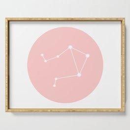 Libra Star Sign Soft Pink Circle Serving Tray
