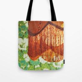 Poetic life: vintage green lampshade Tote Bag