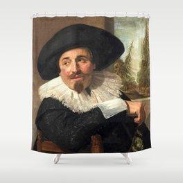"Frans Hals ""Portrait of Isaac Abrahamsz"" Shower Curtain"