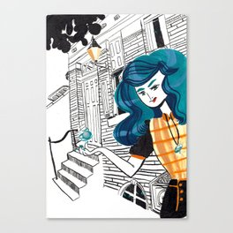 Urban Witch: Water Canvas Print