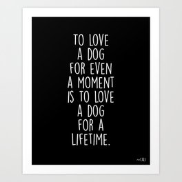 To Love A Dog Art Print