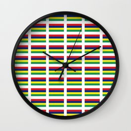 Flag of Mauritius – maurice,mauricien,port-louis,mauritian,rodrigues,creole,dodo,indian ocean Wall Clock