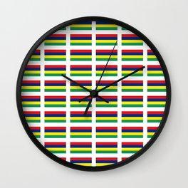Flag of Mauritius – maurice,mauricien,port-louis,mauritian,rodrigues,creole,dodo,indian ocean Wall Clock