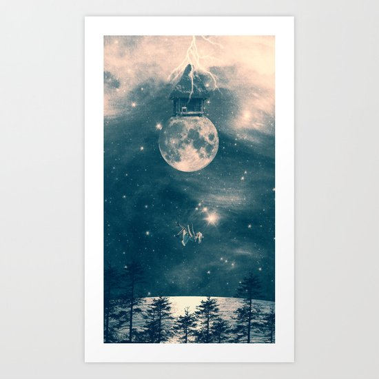 One Day I Fell from My Moon Cottage... Art Print