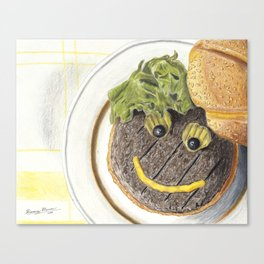 Happy Hamburger Canvas Print