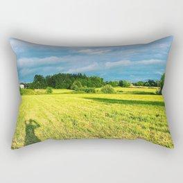 Chemin Richelieu, Saint-Mathias, Québec, Cananda Rectangular Pillow