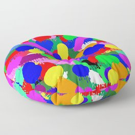 Paint Splodge Colour Abstract Floor Pillow