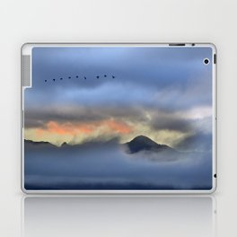 """""""Sunrise at the mountains"""". Birds in the morning. Laptop & iPad Skin"""