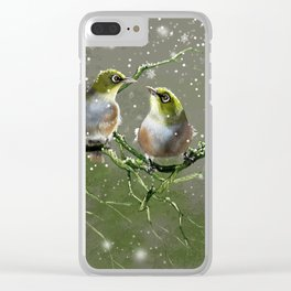 First Snow Clear iPhone Case