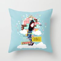 shinee Throw Pillows featuring SHINEE Onew by Haneul Home