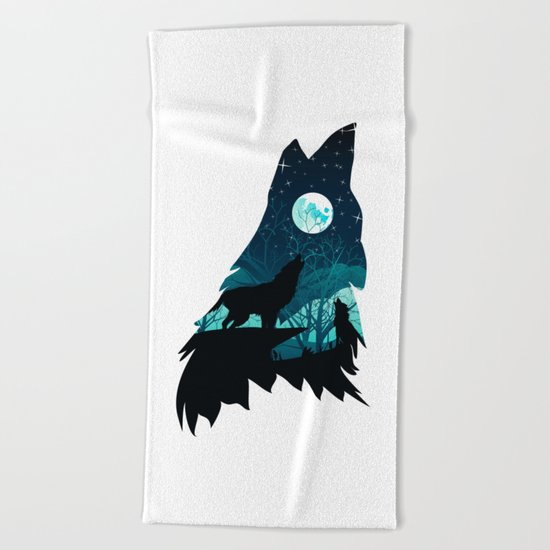 Wolf Home Beach Towel