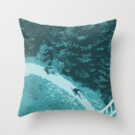 Two bikers Throw Pillow
