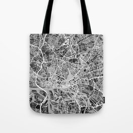 Hamburg Germany City Map Tote Bag