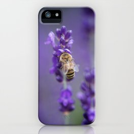 Lavender Bee iPhone Case