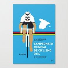 MY UCI Road World Championships MINIMAL POSTER 2014 Canvas Print
