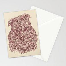 MANDALA OF ENGLISH BULLDOG Stationery Cards