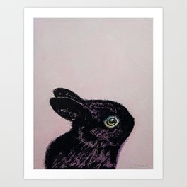 Black Bunny Art Print