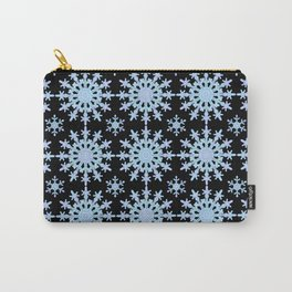 Snowflake Medallion Pattern 1 Midnight Version Carry-All Pouch