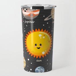 Solar system Kawaii style Travel Mug