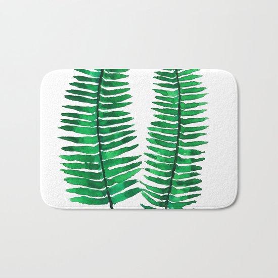 sword fern Bath Mat