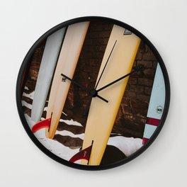 lets surf xxii / malibu beach, california Wall Clock