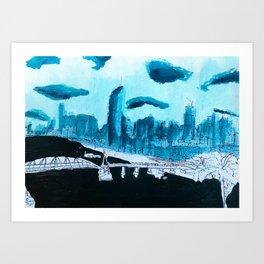BRISBANE POSTCARD SERIES 016 Art Print