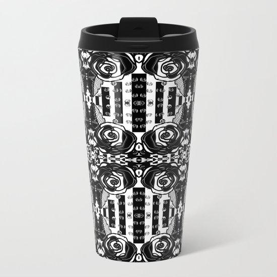 Spider Rose Metal Travel Mug
