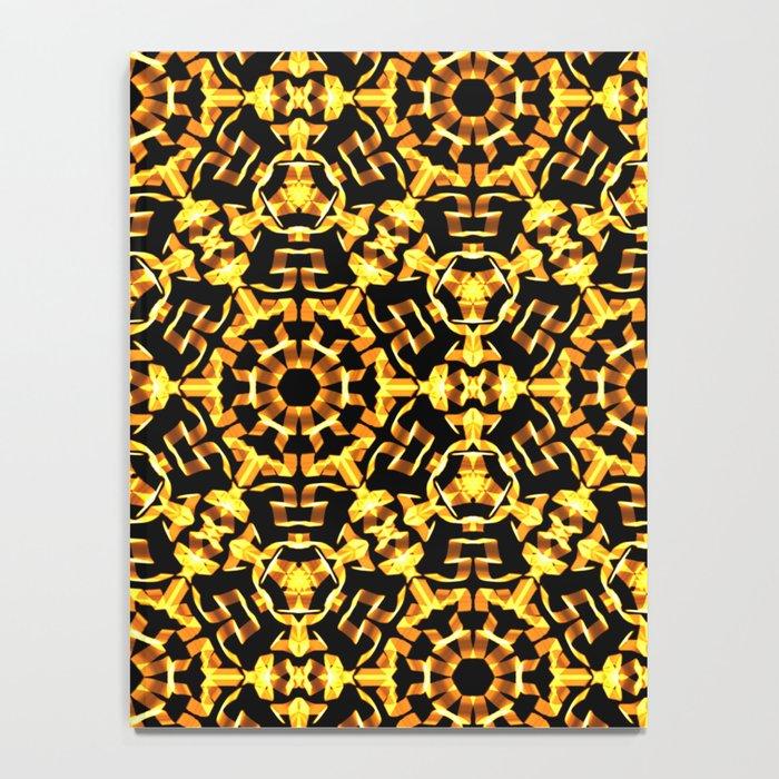 Sunny Gold Pattern Notebook