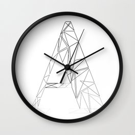 ''Geometry Collection'' - Minimal Letter A Print Wall Clock