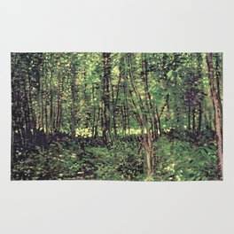Trees and Undergrowth Rug