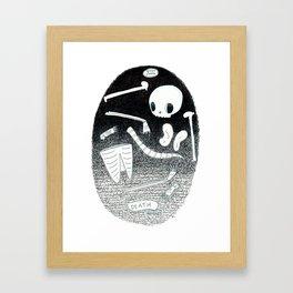 Death Skeleton Tarot Framed Art Print