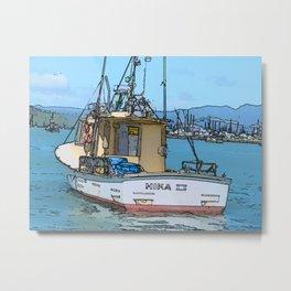 Fishing boat at Whitianga, NZ Metal Print
