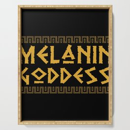 Melanin Goddess print| Black Pride product| Black Girl Power Serving Tray