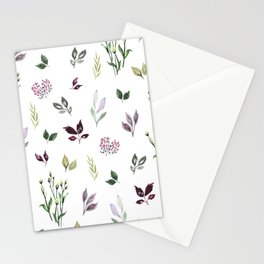 Tiny watercolor leaves Stationery Cards