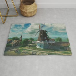 Windmill In Little Village At Waterfont Ultra HD Rug