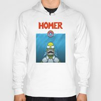 homer Hoodies featuring HOMER by BC Arts