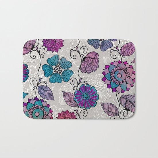 Flower Flow #2 Bath Mat