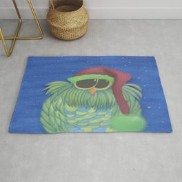 Ernesto the Secret Santa Owl Rug