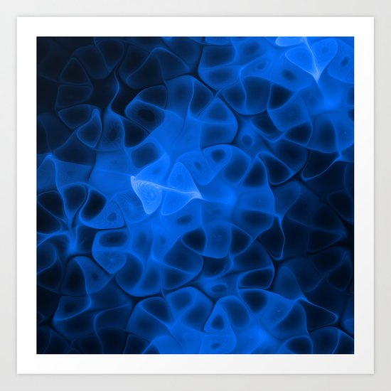 Digital Blue Art Print
