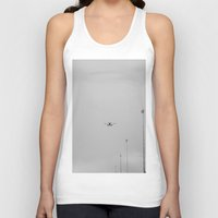 airplane Tank Tops featuring Chicago Airplane by KimberosePhotography