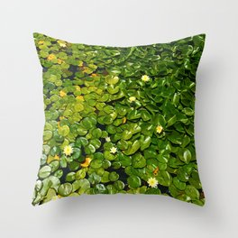 Lilly Pads Green Gradient Bloom Throw Pillow