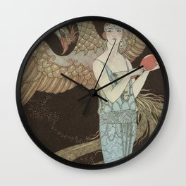 Robe du soir, the Bear, George Barbier, 1922 Wall Clock
