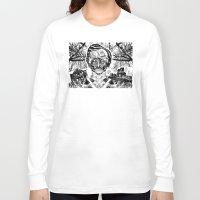 edgar allen poe Long Sleeve T-shirts featuring Poe by Theo Szczepanski