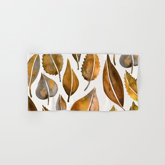 Rusty Leaves Hand & Bath Towel