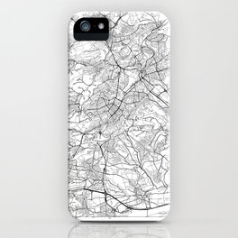 Stuttgart Map White iPhone Case