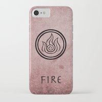 airbender iPhone & iPod Cases featuring Avatar Last Airbender Elements - Fire by bdubzgear
