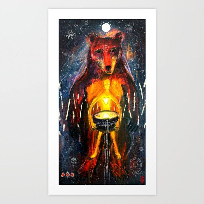 BeornHeorte - Bear Heart Art Print