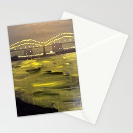 Memphis Skyline at Night Stationery Cards