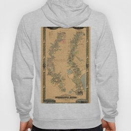 Map of Mississippi River 1858 Hoody